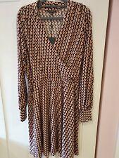 Adrianna Papell Women's Long Sleeve Wrap Dress Size M new !
