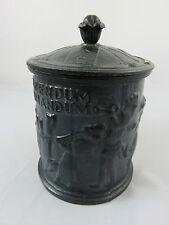 Vintage Swedish Iron Tobacco Jar Tobaksburk Tabak behälter Gusseisen 1800 RARE