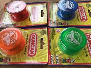Set Of 4 Duncan Butterfly Yoyos...yoyo...collectable Toys..Free Post Australia..