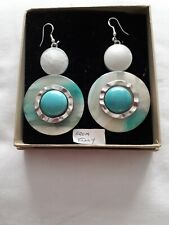 Earrings drop Turquoise From Italy.