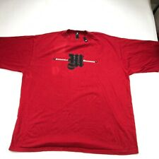 Makaveli Shirt Mens 2XL Red Short Sleeve Graphic Embroidered