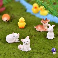 Resin Miniature Cute Fairy Garden Mini Animal Figurine Decor DIY Bonsai Craft