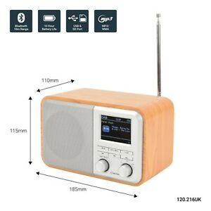 avlink Dab+/FM Radio With Bluetooth Rechargeable 120.216UK