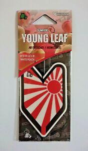 Treefrog Young Leaf Sunrise Rising Sun JDM white peach hanging air freshener