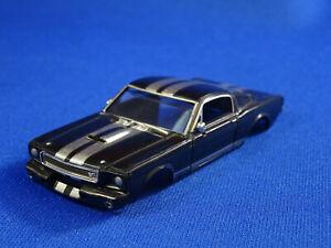 NEW RRR 65 Black MUSTANG FASTBACK HO SLOT CAR BODY ONLY. AURORA THUNDERJET T-JET