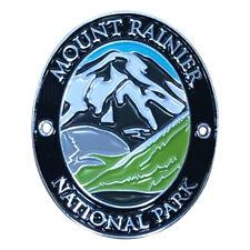 Mount Rainier National Park Walking Hiking Stick Medallion - Volcano Washington