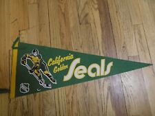 Vtg California Golden Seals NHL Felt Hockey League Pennant 29""