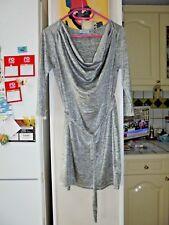 Robe gris argenté à ceinture de marque WOMAN ONLY Femme taille 3 L 40 Etat Neuf