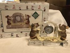 """Charming Tails """"So Much To Do, So Little Time"""" Dean Griff Nib Desk Clock"""