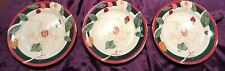 "3 Tienshan Fine China Magnolia 8"" Salad Plate Gold Trim"