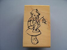 CREATIVE IMAGES RUBBER STAMPS CISTAMPS BOY PIXIE FAIRY NEW wood STAMP