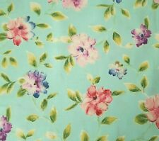 Ariel BTY Studio 8 Quilting Treasures Pink Blue Purple Watercolor Floral on Aqua