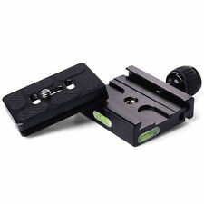 Quick Release Plate + Metal Clamp for Manfrotto Arca Swiss Tripod BallHead DC46