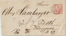 1874 Hungary postal stationery from Aranyos Maroth  to Gesth Raingasse Austria