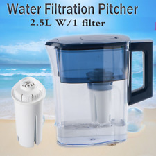 Filtration System Water Jug Pitcher Drinking Purifier W/1 Replaced Filter 2.5L
