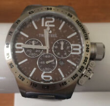 TW Steel - Canteen Collection - Mens 50mm Chronograph Watch Brown Dial CB24