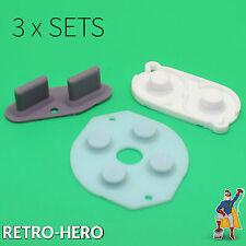 3 X Tastengummis / Gummi Pads / Rubber / Reparatur Set Game Boy Classic / DMG