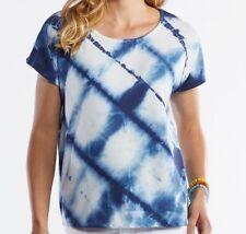 FRESH PRODUCE One Size MOONLIGHT Blue LATTICE Knit Keepsake Top NWT New O/S