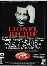 Publicité Advertising 1998 Concert Lionel Richie en Tournée