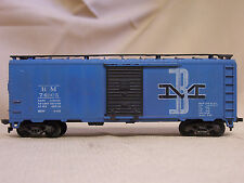 Bm 74005 Box Car Ho Scale Train Blue Cargo Car