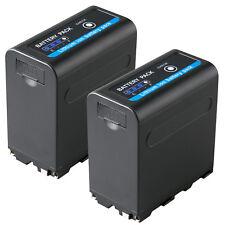 2x Akku für Sony NP-F980 | 7850mAh|65235| NP-F750 | mit 5V USB Ausg. und DC 8,4V