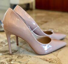 Escarpins beige rosé vernis-Bout pointu-Chaussures à talon 10,8 cm - Pointure 40