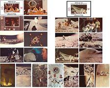 APOLLO 14 & 15 color PHOTO POSTCARD 2 SETS of 10 '71 vtg NASA 20 Postcards Total