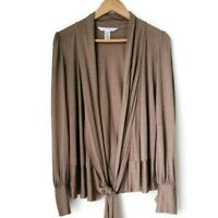 Diane von Furstenberg Women's M Olga Silk Viscose Blend Wrap Long Sleeve Blouse