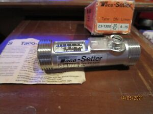"""TACO-SETTER"" FLOW MEASUREMENT AND SETTING VALVE , 23-1300,NEW OLD STOCK."