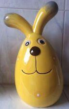Conejo de pascua Ojo movible amarillo Orejas caídas 28 cm Primavera Decoración