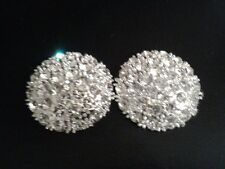 Large 40mm Sparkling Crystal Shank Button x 1