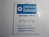 1970 CHRYSLER OUTBOARD MOTOR 85HP  PARTS CATALOG AUGUST 1970
