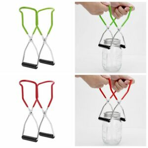 Stainless Steel Canning Jar Lifter Tongs with Grip Handle for Standard Cans 22cm