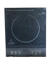 NEW Cook's Companion 1500W LED Black Glass Programmable Induction Cooker Glass