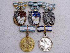 USSR Silver Orders of Maternal Glory 1 2 3 Class + 1 2 Degree Motherhood Medals