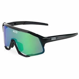 Koo Demos Cycling Sports Sunglasses Zeiss Lens Black Frame Green Mirror