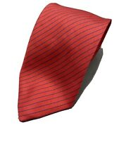 """T.M.LEWIN&SONS RED tie 100% silk STRIPED 58""""/3"""" Good condition"""