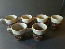6 Vintage Somaware Crackle Double Wall Heart Golden Horse Tea Cups