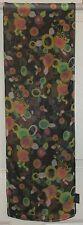 TERRIART Black, Orange, Green Dots & Circles Sheer 62x10 Long Scarf-Vintage