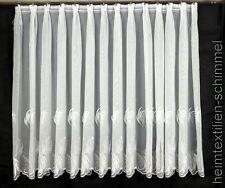 Gardine Store Fenstergardine Vorhang Fenstervorhang weiß bestickt nach Maß
