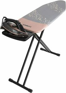 Tower T873002RGB Adjustable Height Ironing Board, Black, Grey and Rose Gold