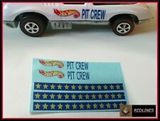 1971 Hot Wheels Redline 'Pit Crew Car' Reproduction Decal 6183