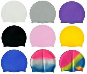 Unisex Swimming Pool Cap Silicone Swim Hat One Size Fits Most Waterproof Shower