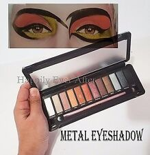 Metallic Eyeshadow Palette- Okalan Metals Eye Shadows with Brush