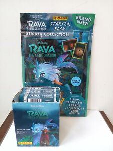Panini Disney Raya The Last Dragon Stickers open box 50 packs & album