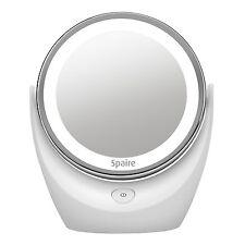 Espejo de Cosmetica con Aumento con Luz LED para Maquillaje Baño Mesa x7 Aumento