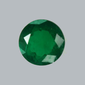 Certified 1.11ct Zambia Natural Emerald Round 6.7mm Loose Gem 459_VIDEO