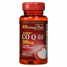 Puritan's Pride CO Q-10 Heart Cardiovascular Wellness 200 mg - 60 Softgels