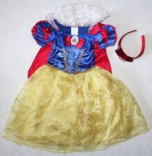 Disney Store Princess Snow White Dress & Headband Lot Costume Girl Size 3