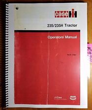 Case IH 235 235H Tractor Owner's Operator's Manual Rac 9-12461 10/87